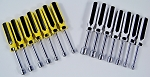 14pc NUT DRIVER Metric and SAE Line Color Handles Chrome Plated upto 1/2
