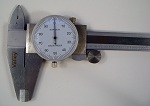 12 inch Stainless Steel DIAL CALIPER SAE Standard Shook Proof Gauge