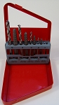 10pc Alloy SCREW EXTRACTOR SET with LEFT HAND EZ Outs & HSS Drill Bits FREE Case