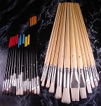 27pc. LG. ARTIST and CRAFT PAINT BRUSH SET