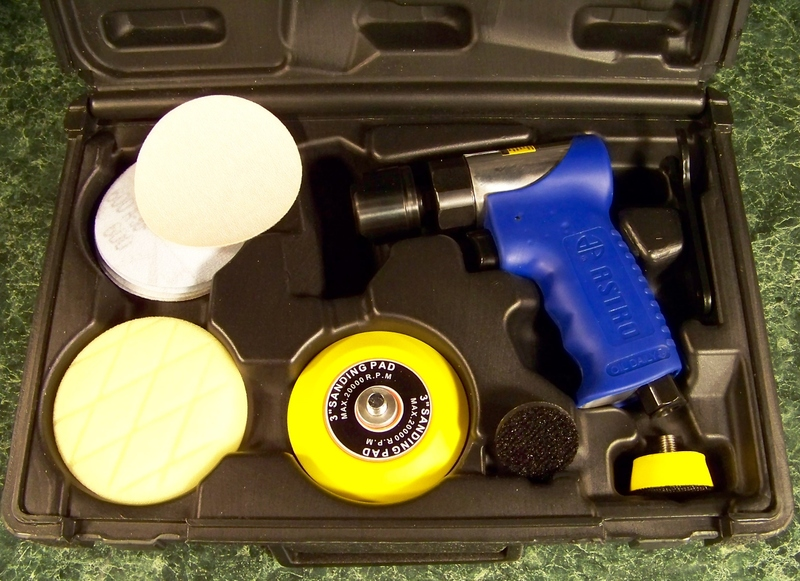 Astro Complete AIR SANDER and POLISHER TOOL with ACCESSORIES and CASE AST-3050