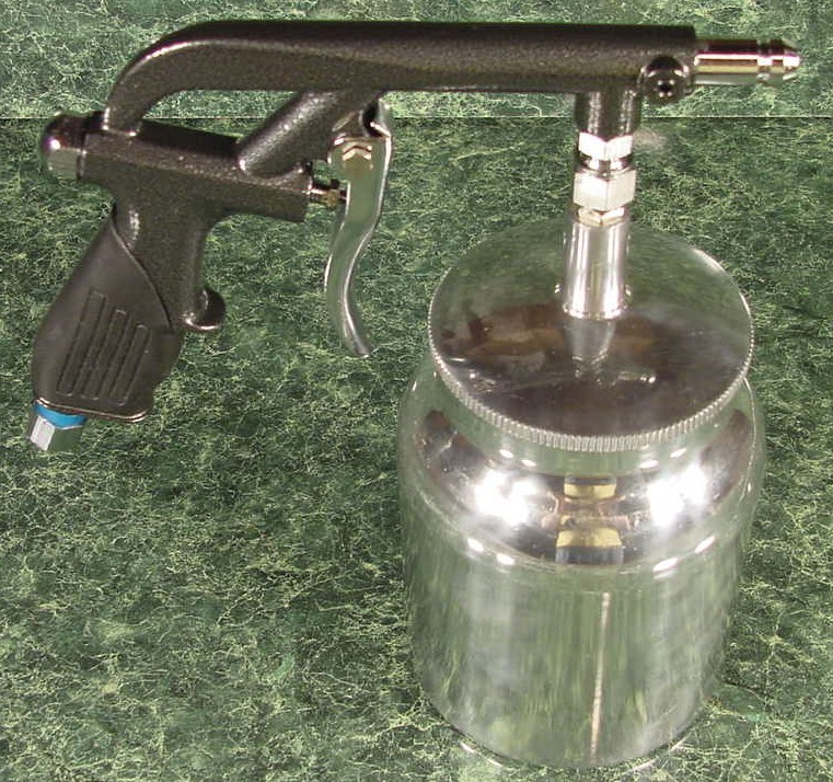 AIR SANDBLASTER GUN with SIPHON CUP