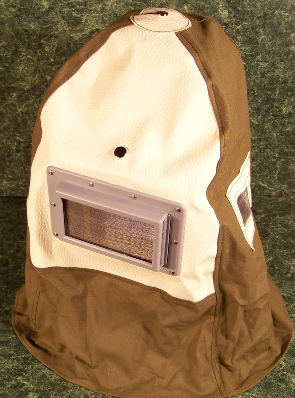 SANDBLASTER HOOD with large Lens and adjustable hard hat