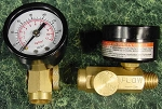 160 PSI INLINE AIR REGULATOR w/GAUGE