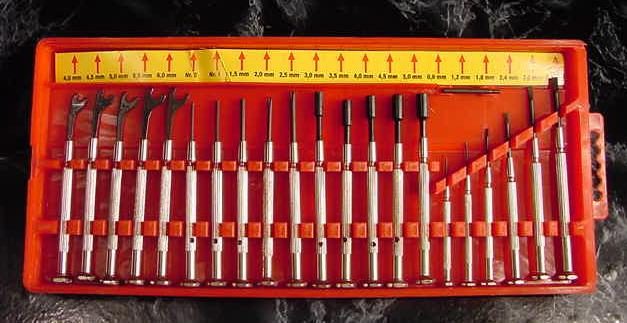 21pc. PRECISION SCREW DRIVER SET