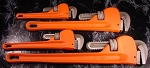 4pc Heavy Duty PIPE WRENCH SET with Rubber GRIPS 4 Sizes big