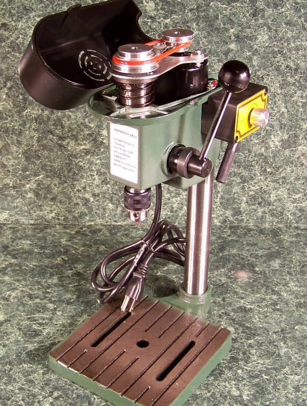 TINY MINI HOBBY BENCH DRILL PRESS For a limited Time you GET a FREE Extra BELT!