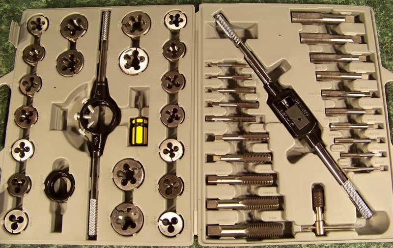 45pc TUNGSTEN Steel TAP and DIE SET SAE