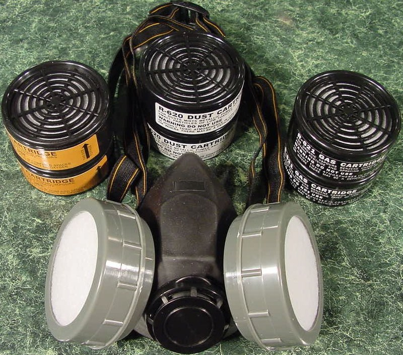 DUAL CARTRIDGE RESPIRATOR DUST MASK
