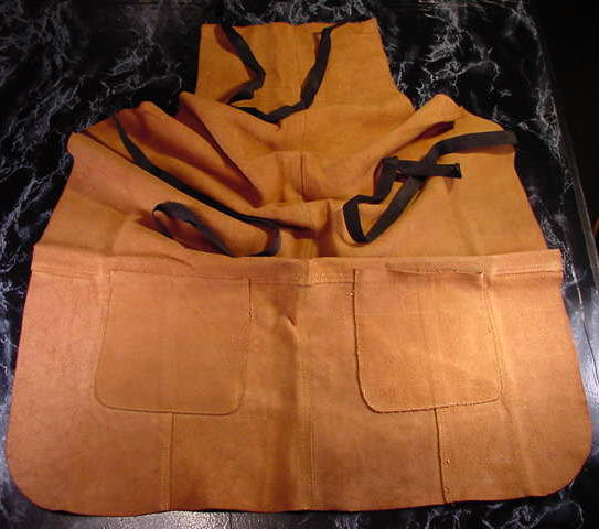 LEATHER WORK APRON w/ 2 POCKETS