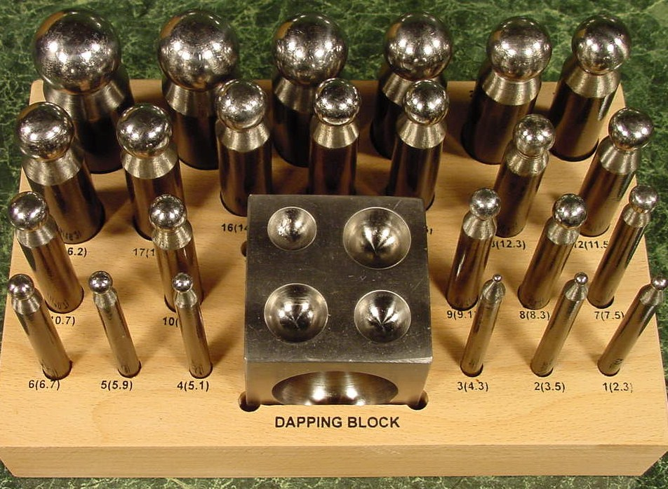 24 pc. DAPPING PUNCH SET with BLOCK