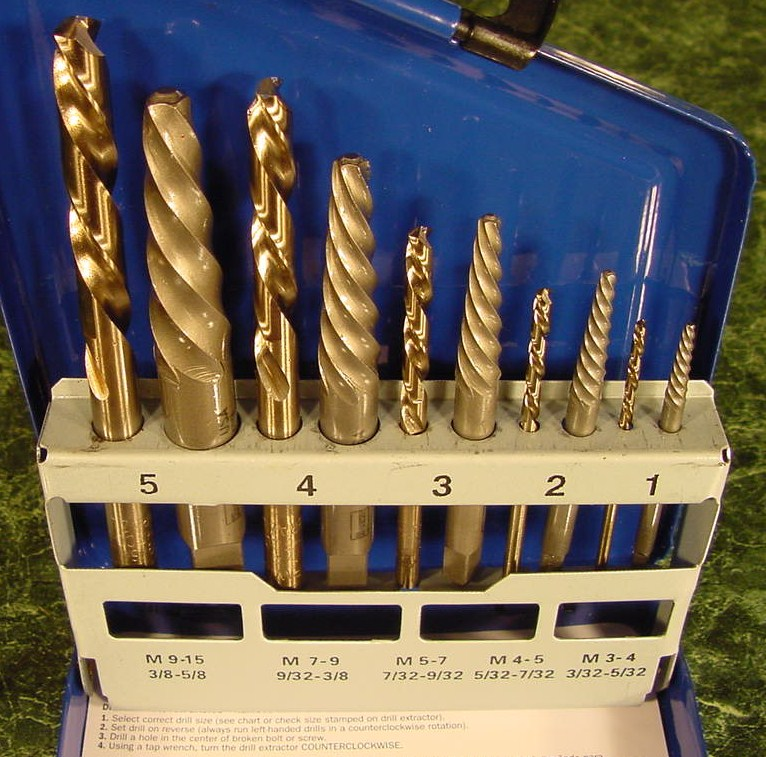 10pc IRWIN SCREW EXTRACTOR SET with LEFT HAND BITS