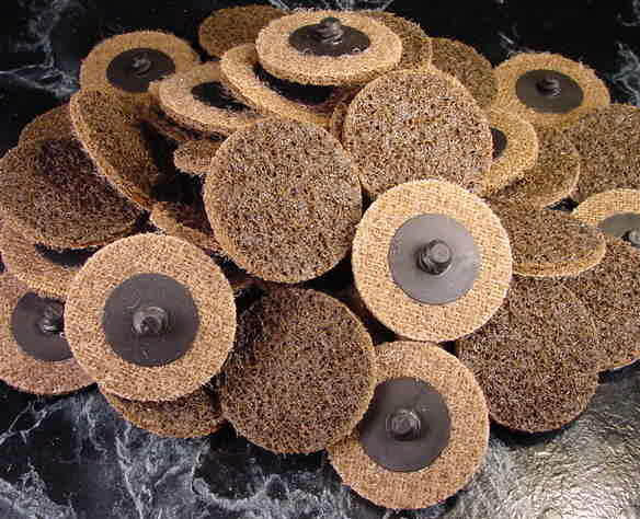 50pc 2 Coarse ROLL LOCKS SCOTCH BRITE SANDING DISC Roloc