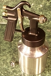 LVLP Siphon Air Spray Gun 1.2 mm Brass Nozzle 32oz Alum. Cup Paint Sprayer