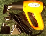 Electric HEAT GUN TOOL with 4 Tips UL 1,200 Watt 1076F degree 2 Settings Dryer
