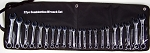22pc SAE and Metric COMBINATION WRENCH SET w/ Storage Pouch upto 3/4