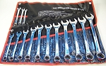 14pc SAE COMBINATION WRENCH SET with Storage Pouch Big 1-1/4