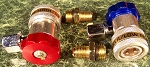QUICK COUPLER ADAPTERS for A/C Manifold Gauge R134A High Low Red Blue Side Fit
