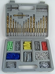 301pc TITANIUM DRILL BIT and ANCHOR SET with SAW BIT Wood Plastic Metals w/ CASE