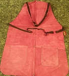 Violet LEATHER WORK SHOP APRON with POCKETS