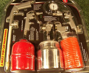 5pc Air TOOL and ACCESSORY Kit Washer, Spray Paint, Duster, Inflator, Coil Hose