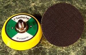 "TWO 2 inch Hook and Loop Replacement SANDING PADS 1/4""x 20 15,000RPM"