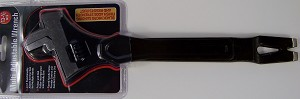 "13-1/2"" Multi Purpose ADJUSTABLE WRENCH with Hammer, Pry Bar and Puller Black"