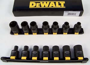"DeWalt 7pc 1/2"" Drive FEMALE Impact TORX Socket Set with HOLDER External torque"
