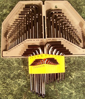 55pc HEX and BALL HEX KEY SET SAE and METRIC