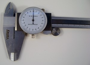 12 inch Stainless Steel DIAL CALIPER METRIC with Case Shook Proof Gauge