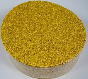 "50pc 9 "" STICK ON PSA SANDPAPER DISC 36 GRIT A/O GoldLine MADE IN USA inch P36E"