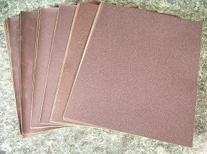 60pc SILICON CARBIDE Wet / Dry SANDPAPER SHEETS 9 x 11 Very Fine Coarse Assorted