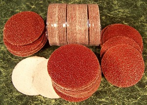 "100pc 80 Grit 2"" HOOK and LOOP SANDING DISCS A/O Red No Hole sand paper disk USA"