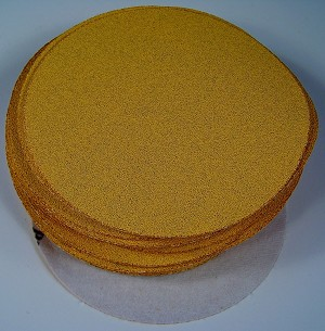 "50pc 80 Grit 6"" HOOK and LOOP Premium Gold Line SANDING DISCS Sandpaper USA inch"