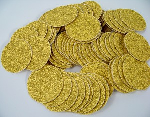 "100pc 2 "" PSA Stick On SANDPAPER DISC 36 GRIT A/O GoldLine Made in USA P36E inch"