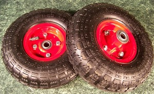 "2pc 10"" AIR RUBBER DOLLY WHEELS"