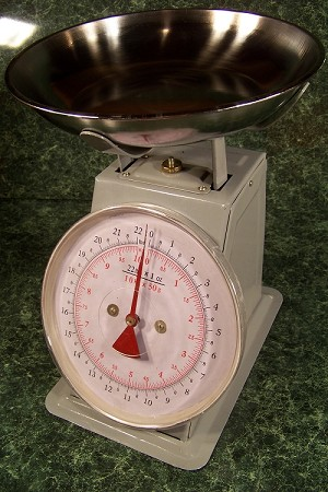 22 LB. DIAL PLATFORM SCALE with Removable Stainless Steel DISH