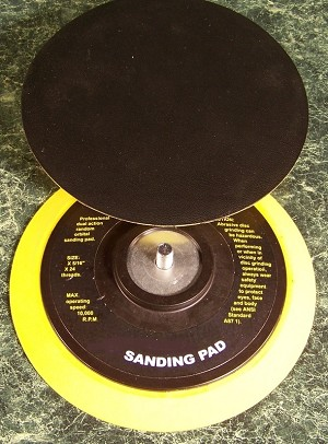 "2pc replacement 5"" DUAL ACTION DA STICK ON SANDING PADS"
