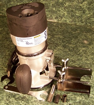"2 Horse Power Electric 1/2"" ROUTER with 1/4"" and 3/8"" Collets"