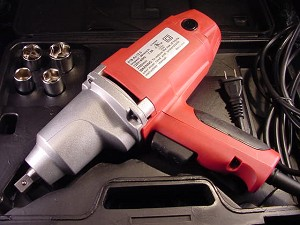 "1/2"" Drive Electric IMPACT WRENCH w/ Sockets and Case No air needed"