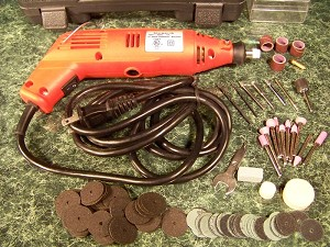 128pc. ROTARY TOOL and ACCESSORY KIT with Case