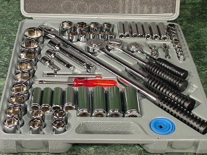 "60pc. Professional SAE SOCKET SET 1/4"", 3/8"" and 1/2"" drive"