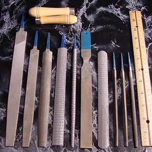 12pc. Metal and Wood FILE SET with Pouch
