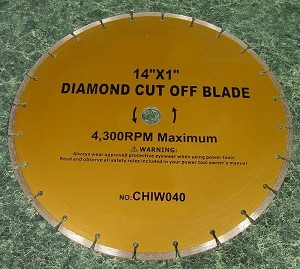 "14"" DIAMOND CUT OFF SAW BLADE"