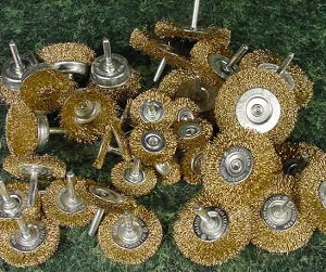 "36pc. WIRE WHEELS 1/4"" Shafts"