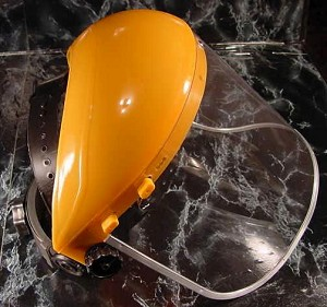 CLEAR FLIP UP FACE SHIELD