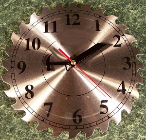 "10"" Steel Circular Saw Blade CLOCK with Second Hand"