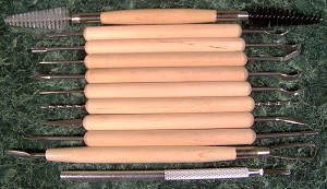 11pc CLAY POTTERY SCULPTURE TOOL SET
