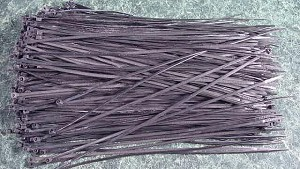 "500pc. 12"" BLACK CABLE / WIRE TIES"