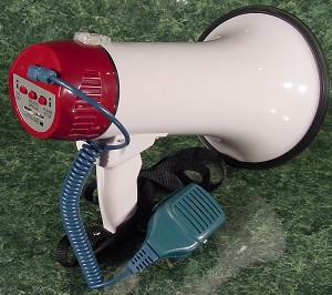 MEGAPHONE BULLHORN with MICROPHONE and SIREN